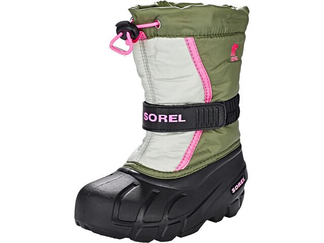 Sorel Flurry Boots Barn hiker green/bubblegum